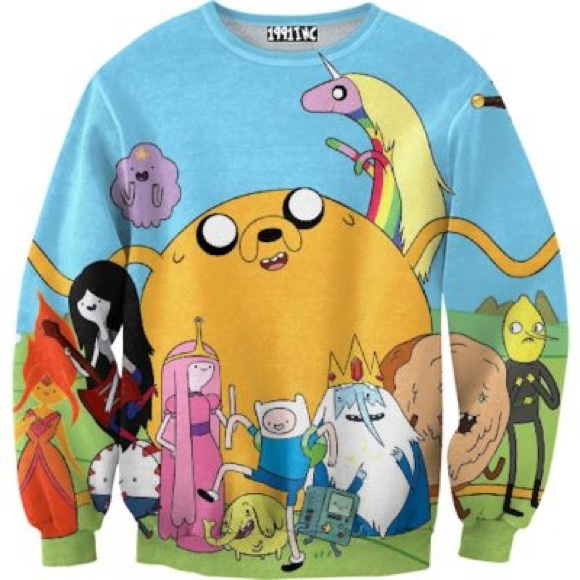 1991 Inc Tops Soldamazing Adventure Time Sweatshirt